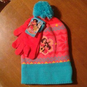 Disney Elena Avalor beanie + gloves